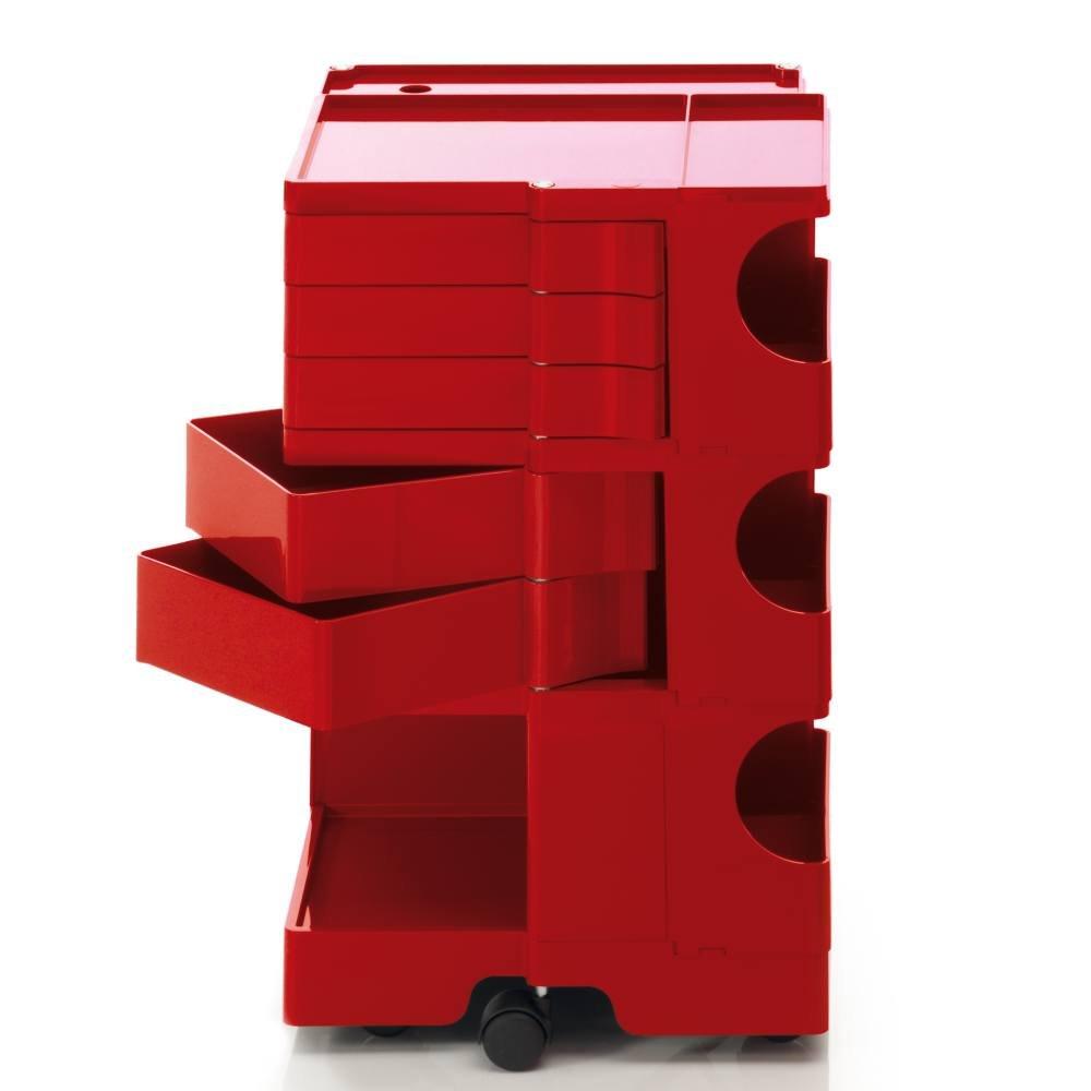 Rollcontainer Rot b line boby 35 rollcontainer rot 5 schubkästen amazon de küche