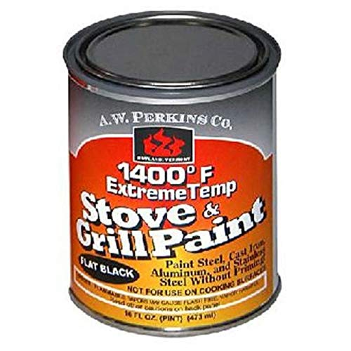 Black Stove - AW Perkins 1400 Deg F Black Stove Paint Brush-On - 1 Pint