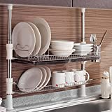 Asia Column Style Sink Rack Two Tier 800 Shelf Liner Dish Holder
