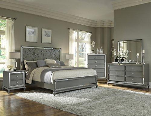 BK HOME W630 Uptown Bedroom Set, Blush Gray, Queen