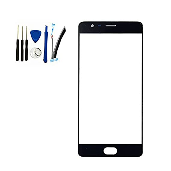 new york aa67a 40f9f Front Screen Outer Glass top Panel Lens cover For Oneplus Three 3 A3000  A3003 replacement (black)