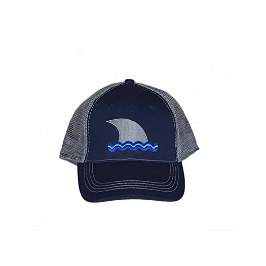 c9d7fcd2d Amazon.com: Navy Blue and Grey Trucker Hat Two Tone Cotton and Mesh ...