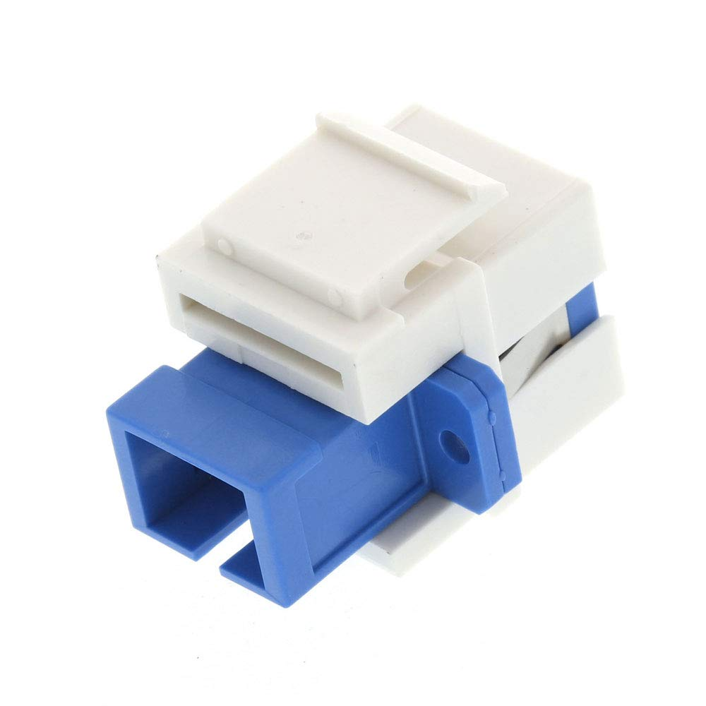 5 Pack, LC Surface Mount Boxes USHANLIN LC Fiber Optic Adapter LC to LC Duplex Multimode 10GB F//F Keystone Coupler for Wall Plates Patch Panels