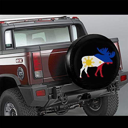Fshionlicenkdseplate Universal Spare Wheel Tire Cover Fit for Truck Camper Van,Jeep,Trailer RV SUV Trailer Accessories