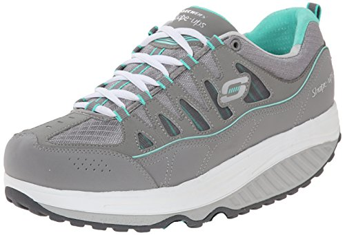 Skechers Women's Shape Ups 2.0 Comfort Stride Fashion Sneaker, Gray/Mint, 6 M US