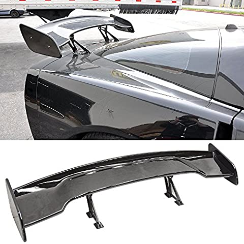 57 Inch GT Wing Spoiler Adjustable ABS Glossy Black Rear Trunk Spoiler Wing Amazon$ - 1995 Honda Civic Trunk