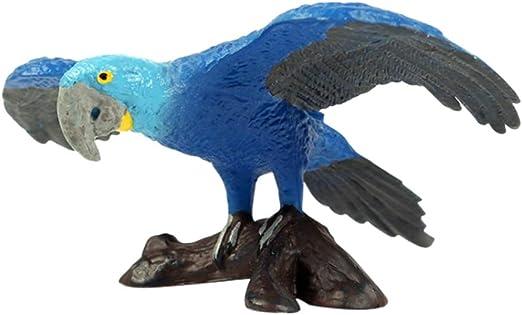 Hankyky Pavo de pavo real / loro azul / cacadú pájaro para exterior Mini Figura de pájaro, Jardín Animales Estatua de mesa Decoración Colección Artesanía Jardín Escultura, Blue Parrot A Single: Amazon.es: