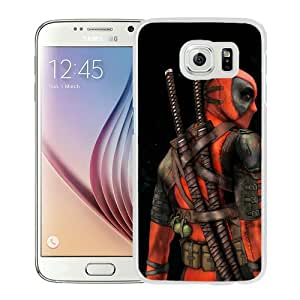 Popular Samsung Galaxy S6 Cover Case ,deadpool White Samsung Galaxy S6 Case Hot Sale And Unique Designed Phone Case