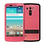 LG G3 Waterproof Case, iThrough Waterproof Case for Outdoors Sports, Dust Proof, Snow Proof, Shock Proof Durable Full Sealed Protection Case with Transparent Screen Protector for LG G3 (Pink)