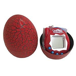 Basage Electronic Pets Toy Key Digital Pets Tumbler Dinosaur Egg Virtual Pets red