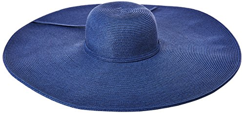 (San Diego Hat Company Women's Ultrabraid Extra Large Brim Floppy Hat with SPF Protection, Cobalt, One Size )