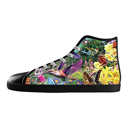 Dalliy Hummingbird And Flower Mens Canvas shoes Schuhe Lace-up High-top Sneakers Segeltuchschuhe Leinwand-Schuh-Turnschuhe E