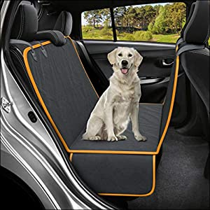 Active Pets Dog Back Seat Cover Protector Waterproof Scratchproof Hammock for Dogs Backseat Protection Against Dirt and…
