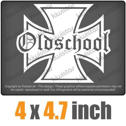 Oldschool Iron cross 4 x 4.7 inch JDM Decal Sticker