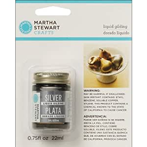 Martha Stewart Crafts Liquid Gilding (0.75-Ounce), 32213 Silver