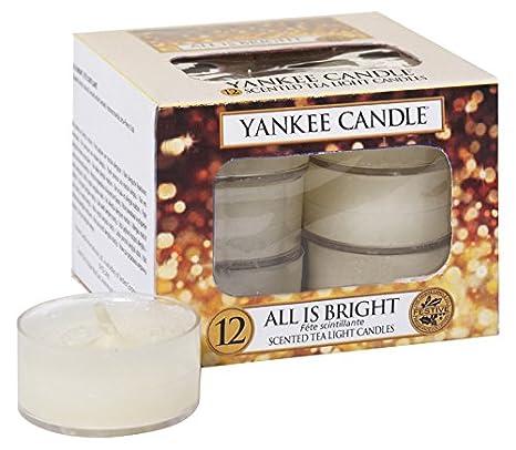 YANKEE CANDLE Candele Tea Light, all Is Bright, Confezione da 12 1513544E