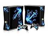 OOCEE Flower Skin Sticker for Xbox 360 Slim Console & 2 Controller Skins