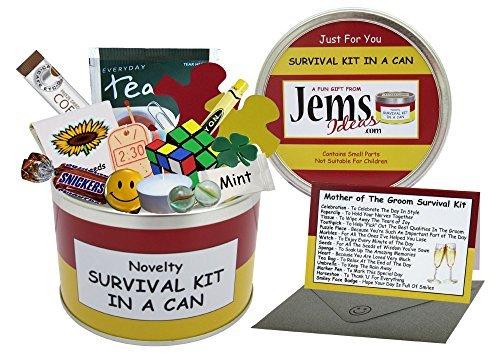 Madre de el novio Kit de supervivencia en una lata. Humor regalo – boda gracias regalo/favor/a favor. Mamá/madre presente y tarjeta todo en uno.