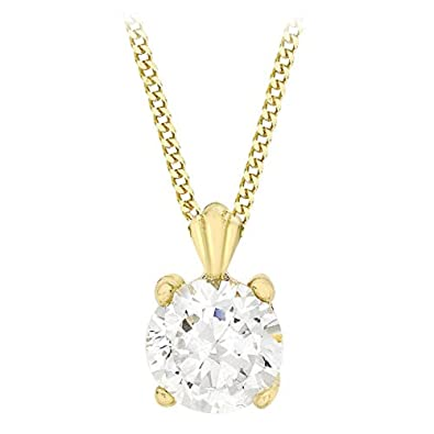 Carissima Gold Women's 9 ct Yellow Gold Heart Pendant on Curb Chain Necklace of Length 41 cm rWUGYR