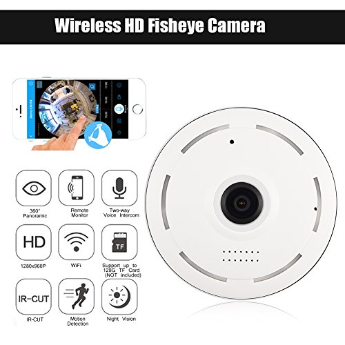 Fosa Home Security 960P HD 360° Panoramic WiFi Wireless Cam