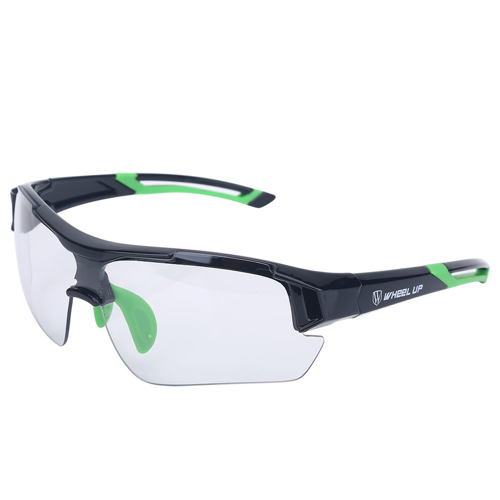 Tbest Unisex Photochromic Sunglasses,Windproof UV Protection Bike Glasses Photochromic Safety Glasses Polarized for Outdoor Sport Mountain Cycling Motocycle Driving Hiking Fishing (Green) by Tbest
