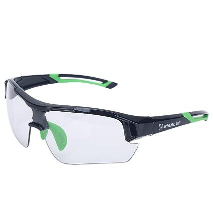 Tbest Gafas de Sol fotocromáticas Unisex, Protección UV a Prueba de Viento Gafas de Bicicleta Gafas de Seguridad fotocromáticas Polarizadas para ...