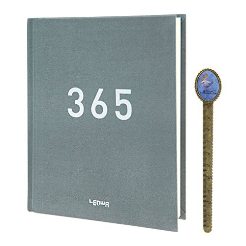 365días diario Tapa Dura Cuaderno Diario Planificador Mensual Calendario Organizador, Estudiar Memo Diario de viaje Vida...