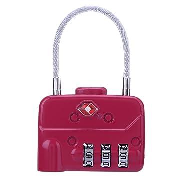 Trendyest - Candados de seguridad para equipaje con contraseña de 3 bits para maletas: Amazon.es: Bricolaje y herramientas