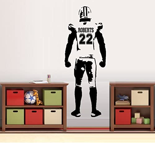Football Player Custom NUMBER DECAL product image