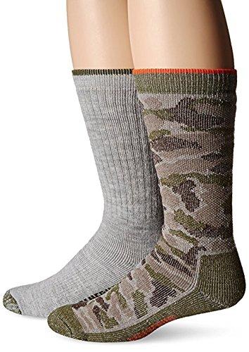 Wolverine Men's Socks Camo Full Cushion Wool Crew Camo/Grey 2pairs ()