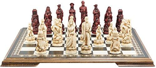 American Civil War Chess Set - Handmade - Ivory and Burgundy - 5 Inches ()