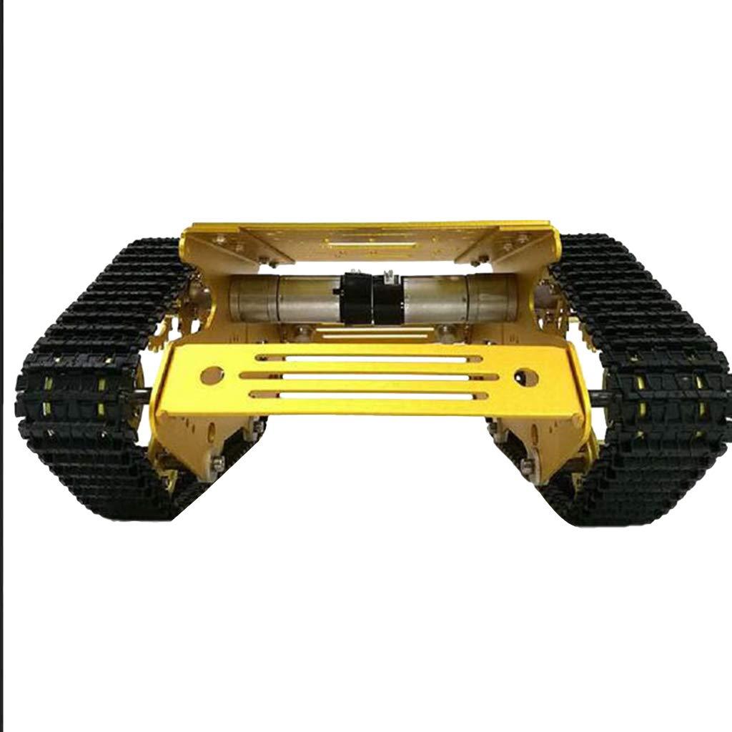 12V without Code Wheel Motor Almencla Robot Tank Car Kit Tank Chassis Platform 7V12V Motor for Arduino DIY Weight 1.16 kG  12V Without Code Wheel Motor