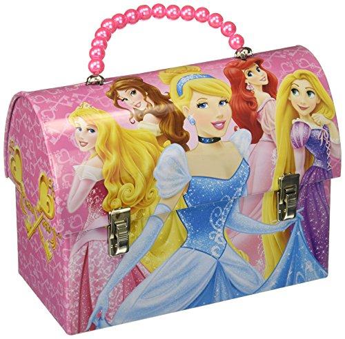 The Princess And The Tin Box - Disney Princess Metal Handbag Lunchbox Tin Carry-All with Beaded Handle
