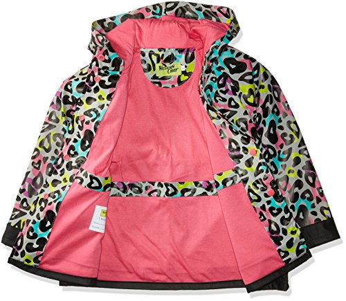 Western Chief Kids Soft Lined Character Rain Jackets, Groovy Leopard, 6