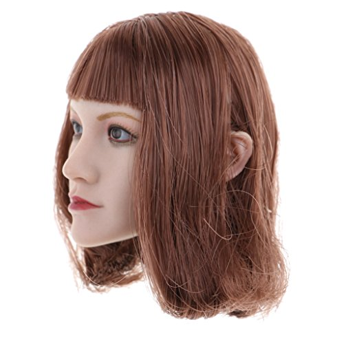 MagiDeal 1:6 Female Head Sculpt Carved Models for 12'' Phicen Action Figure Accessories E