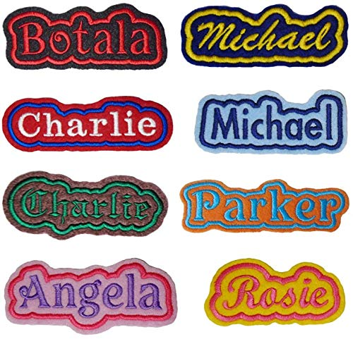 Custom Embroidered Felt Patch Personalized Name ID with Outline Border (4