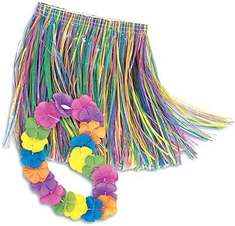 Child Lei & Grass Skirt Hula Set