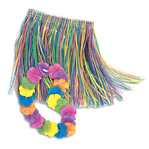 Child Lei & Grass Skirt Hula Set (Hawaiian Party Dress)