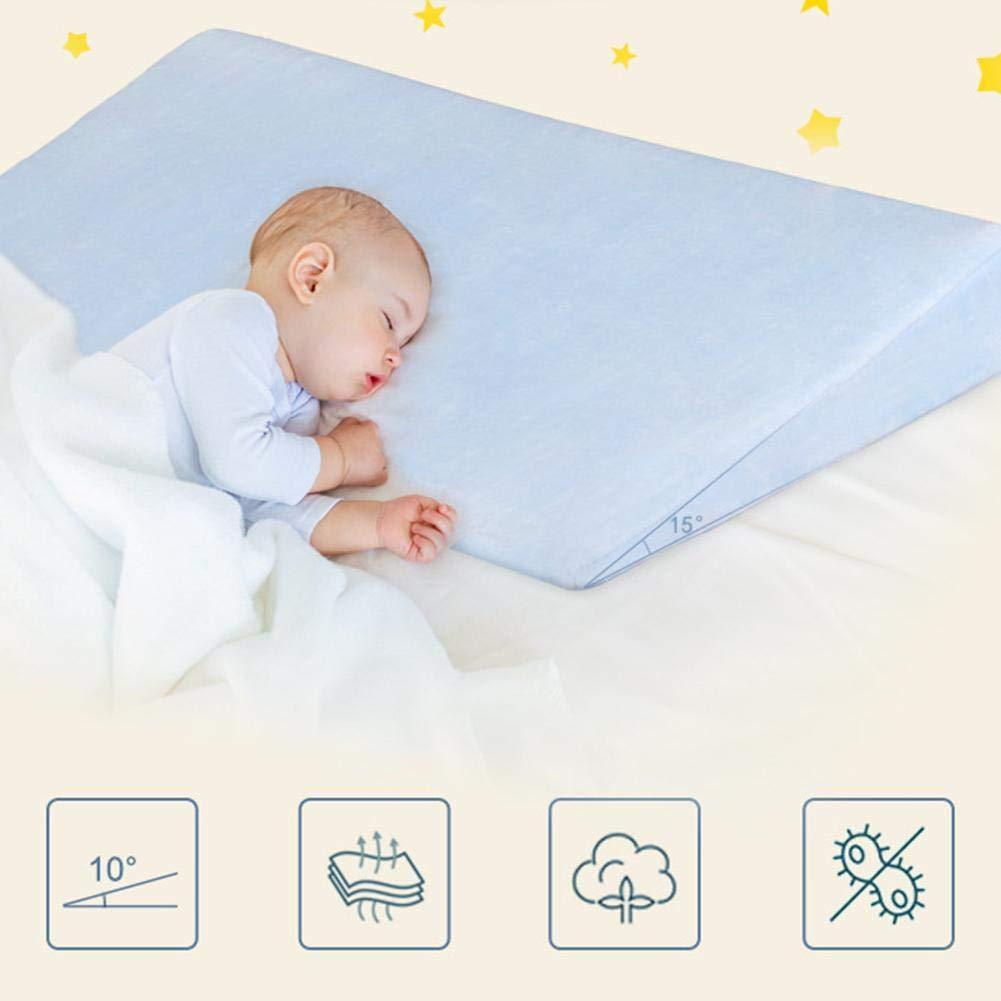 wasserdichte Schicht Memory Foam Baby Wedge Foam Kissen mit abnehmbarem Bezug f/ür Anti Reflux Colic und bessere Nachtruhe Su-luoyu Baby Crib Stillkissen