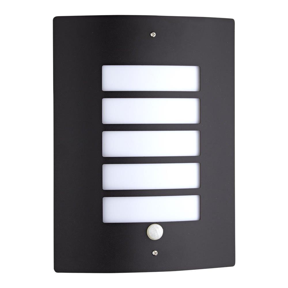 Biard Orleans Aplique Moderno E27 para Iluminaci/ón Exterior en Color Negro Ideal para Terrazas y Patios Sensor de Movimiento PIR IP44, 230 x 90 x 290mm