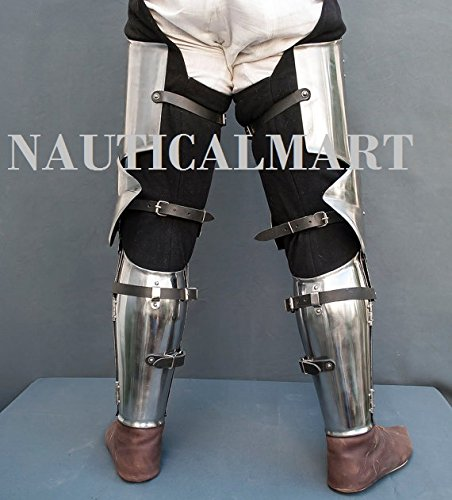 Leg combat armor set , plate legs, cuisses with poleyns and greaves SCA LARP steel protection medieval armor SCA larp legs by NAUTICALMART (Image #2)