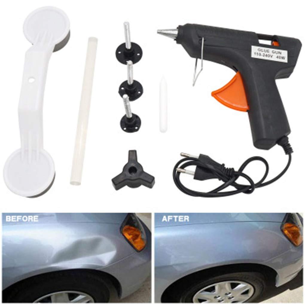 1 Set Paintless Car Auto Body Dent Repair Damage Fix Tool Tirer Pont Extracteur Dent Enl/èvement Outils /à Main Kit EU Plug Regard