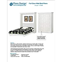 Do-it-Yourself Murphy bed with pre-made interior panel 5-panel classic door - Design 1FDWB