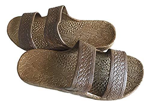 Pali Hawaii Unisex Adult Classic Jandal Sandal (Brown, 10)