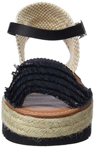 Black Tabarca Donna MENORQUINAS con 0 Black Nero POPA Plateau Sandali gFOF8x