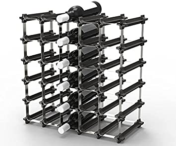 25 NOOK Wine Rack – Easy 2 Step Assembly Capacity 30 Bottles