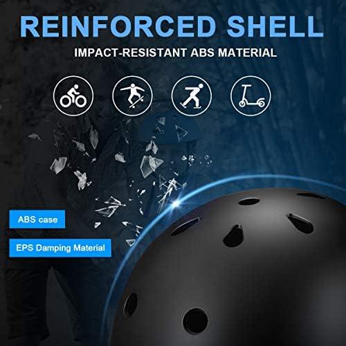 MOICO Kids Bike Helmet – Adjustable Toddler Helmet for Boys Girls Ages 3-8, Kids Bicycle Helmet with LED Safety Light, CPSC Certified for Safety Sports – Rollerblading, Scooter, Skateboarding