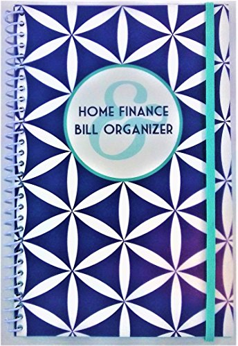 Bill Organizer (Home Finance & Bill Organizer with Pockets (Blue Geometric))