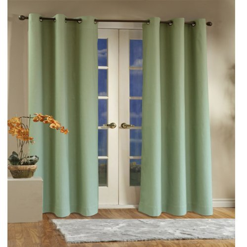 Grommet Weathermate Thermal Top - Thermalogic Insulated Cotton Panels Pair, 160 by 84-Inch, Sage