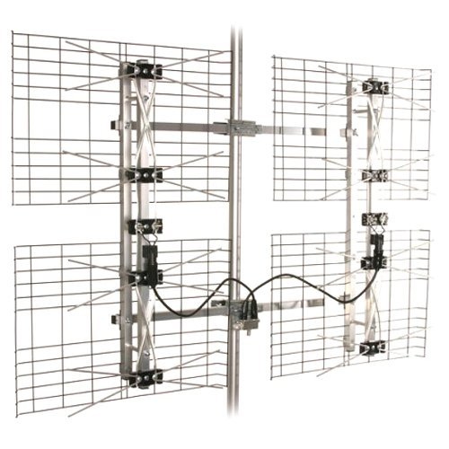 High Gain Bowtie Indoor/Outdoor HDTV Antenna - 60 Mile Range